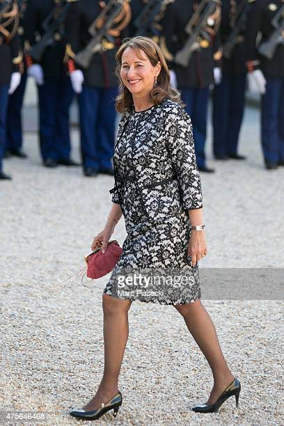 French Minister of Ecology Sustainable Development and Energy Segolene Royal arrives at the State Dinner offered by French President François...