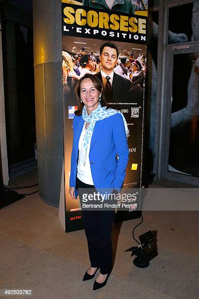 French Minister of Ecology Sustainable Development and Energy Segolene Royal attends the Tribute to Director Martin Scorsese at Cinematheque...