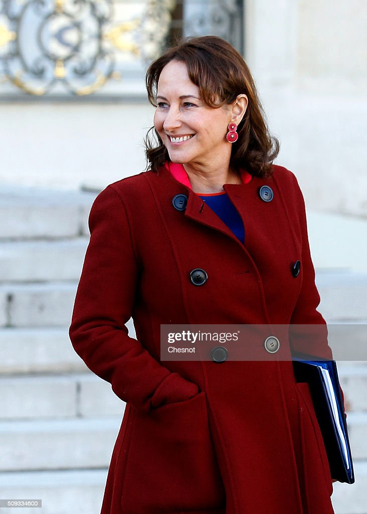 French Minister of Ecology, Sustainable Development and Energy Segolene Royal leaves after the weekly cabinet meeting at the Elysee Palace on February 10, 2016 in Paris, France. This is the last cabinet meeting before the next ministerial reshuffle.