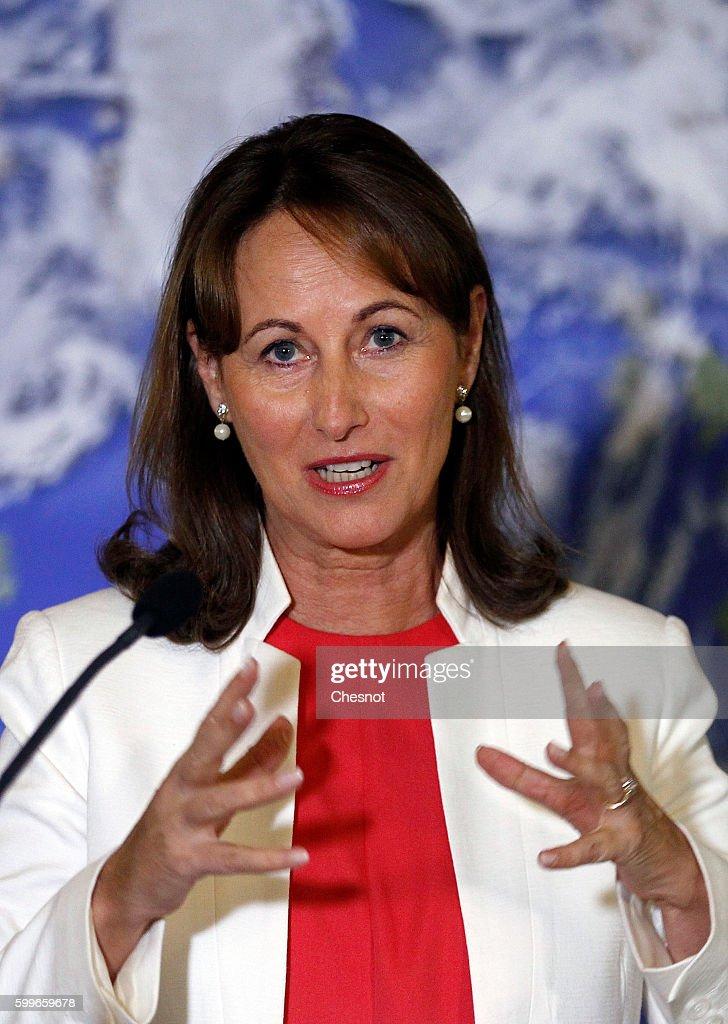 Segolene Royal Holds A Press Conference In Paris