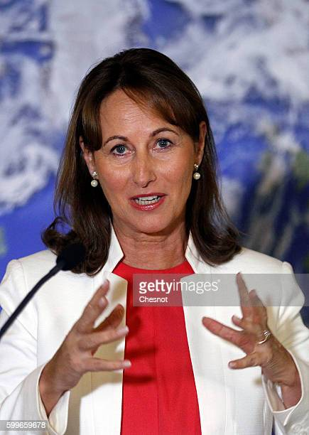 French Minister of Ecology Sustainable Development and Energy Segolene Royal delivers a speech on September 6 2016 in Paris France Segolene Royal has...