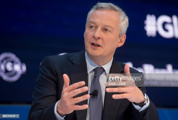 French Minister of Economics and Finance Bruno Le Maire speaks during a CNN Debate on the Global Economy during a CNN Debate on the Global Economy...