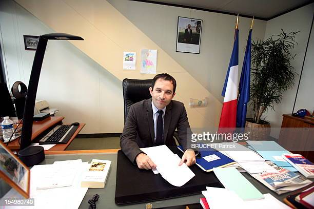 French Minister Of Economy Benoit Hamon Portrait Session