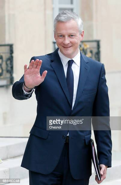 French minister of Economy Bruno Le Maire arrives at the Elysee presidential palace for the first weekly cabinet meeting on May 18 2017 in Paris...