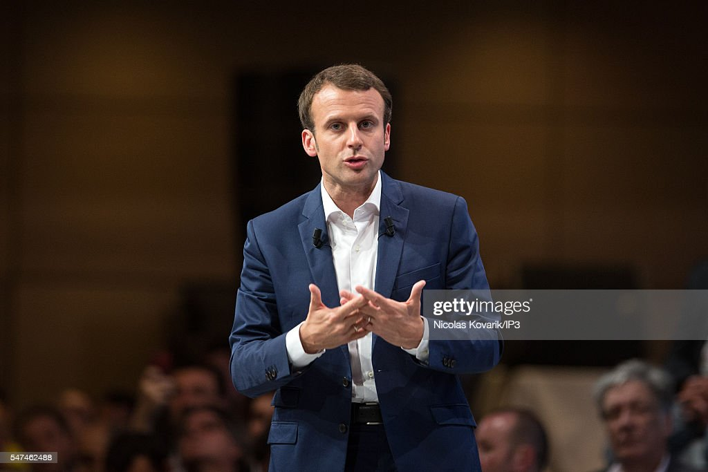 "French Minister of Economy Emmanuel Macron Attends A meeting for ""En Marche"" In Paris"