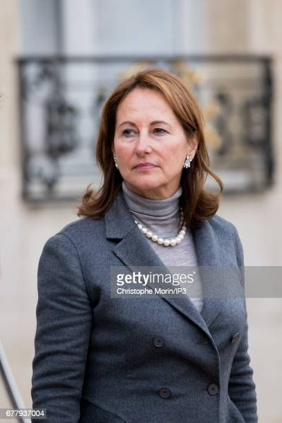 French Minister of Environment Segolene Royal attends a lunch between French President Francois Hollande and King Mohammed VI of Morocco the latter...