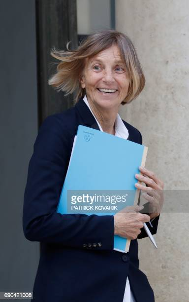 French Minister of European Affairs Marielle de Sarnez leaves a cabinet meeting on May 31 2017 at the Elysee Palace in Paris / AFP PHOTO / Patrick...