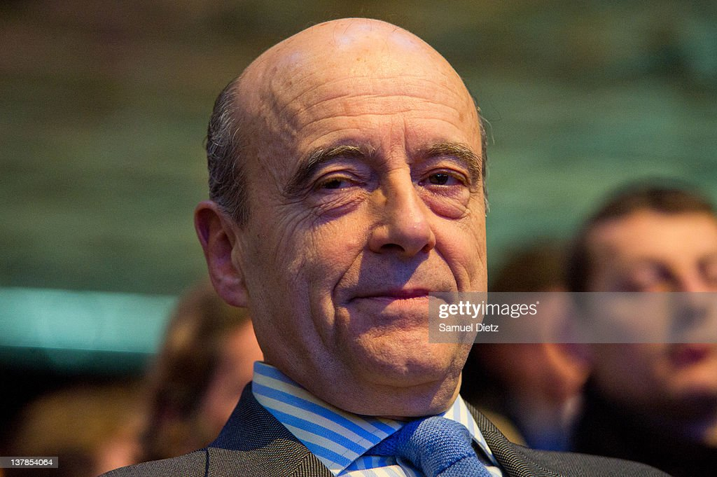 French Minister of Foreign Affairs <a gi-track='captionPersonalityLinkClicked' href=/galleries/search?phrase=Alain+Juppe&family=editorial&specificpeople=235359 ng-click='$event.stopPropagation()'>Alain Juppe</a> attends the UMP National Convention at Parc des Expositions Porte de Versailles on January 28, 2012 in Paris, France. The National Convention was held to validate formally the UMP program that will be presented by their candidate in the upcoming Presidential elections that will take place in May 2012.