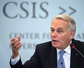 French Minister of Foreign Affairs and International Development JeanMarc Ayrault delivers remarks at the Center for Strategic and International...
