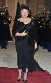 French Minister of Health and Sport Roseline Bachelot poses as she arrives to the State Dinner At Elysee Palace Honouring South African President...