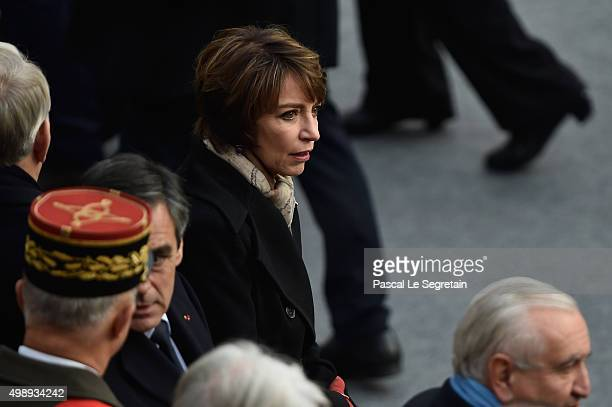 French Minister of Health Marisol Touraine attends The National Tribute to The Victims of The Paris Terrorist Attacks at Les Invalides on November 27...