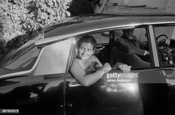 French Minister of Health Simone Veil on vacation in Rayol in the south of France She is meeting Jacques Chirac for the 30th anniversary celebration...