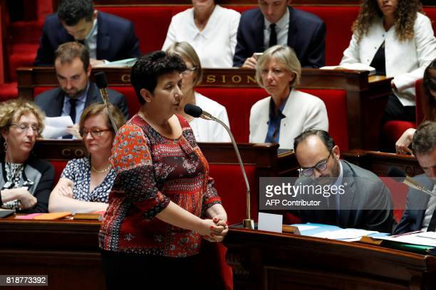 French Minister of Higher Education Research and Innovation Frédérique Vidal speaks during a session of questions to the government at the French...