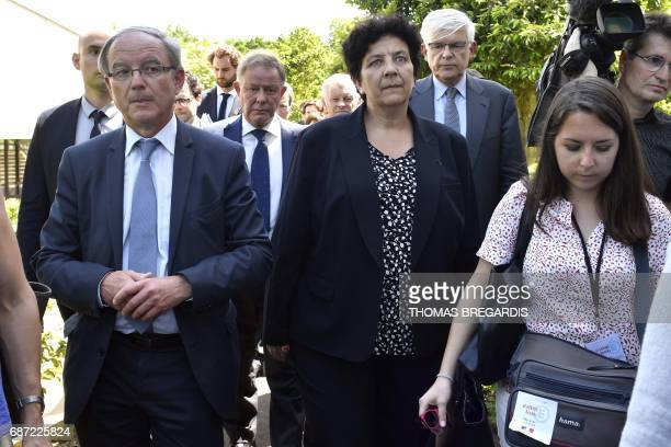 French Minister of Higher Education Research and Innovation Frederique Vidal and headteacher of the campus of the specialist higher education...