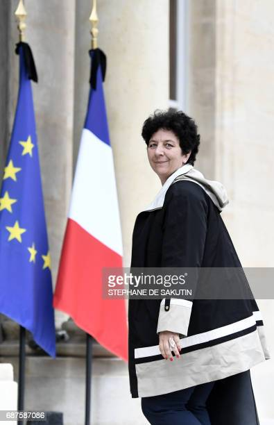 French Minister of Higher Education Research and Innovation Frederique Vidal arrives to attend the weekly cabinet meeting on May 24 2017 at the...