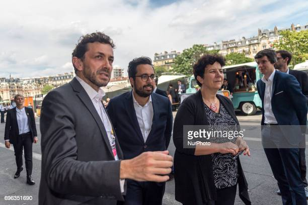 French Minister of Higher Education Research and Innovation Frederique Vidal and French Minister of State for the Digital Sector Mounir Mahjoubi...