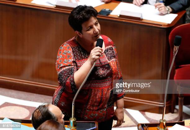 French Minister of Higher Education Research and Innovation Frederique Vidal speaks during a session of questions to the government at the French...