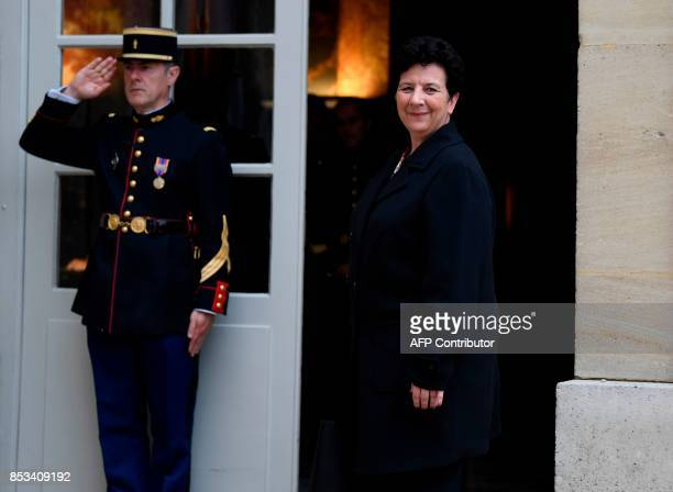 French Minister of Higher Education Research and Innovation Frederique Vidal arrives for a report on the Grand Investment Plan by French economist...