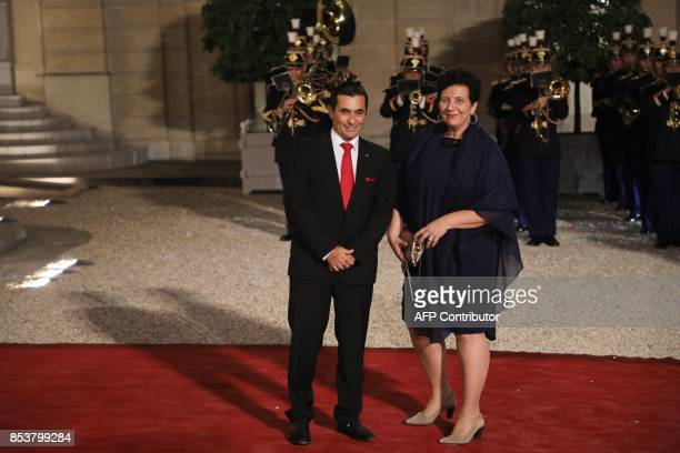 French Minister of Higher Education Research and Innovation Frederique Vidal arrives for a state dinner for Lebanon's President at the Elysee...