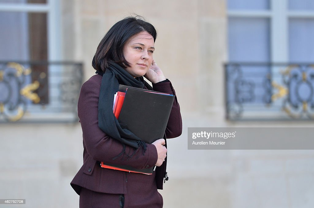 French Minister of Housing <a gi-track='captionPersonalityLinkClicked' href=/galleries/search?phrase=Sylvia+Pinel&family=editorial&specificpeople=9331820 ng-click='$event.stopPropagation()'>Sylvia Pinel</a> leaves the Elysee Palace after the weekly cabinet meeting at Elysee Palace on February 4, 2015 in Paris, France.