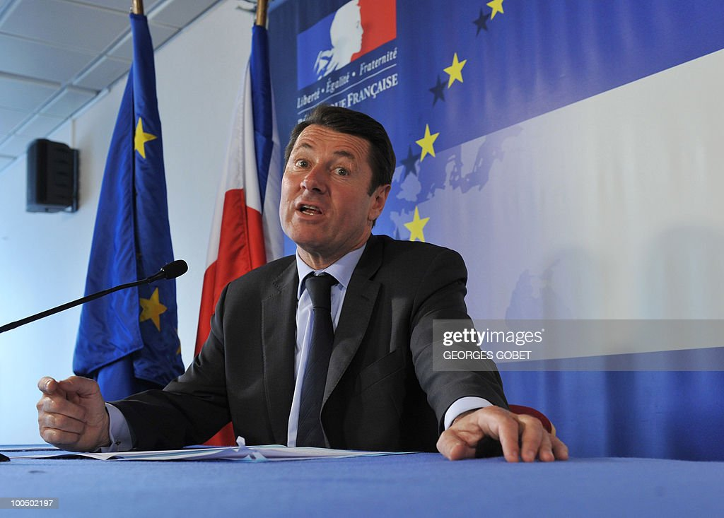 French minister of Industry Christian Estrosi gives a press conference following a working session of the Competitiveness Council on May 25, 2010 at the EU headquarters in Brussels.