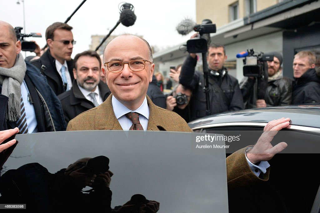 French Minister of Interior <a gi-track='captionPersonalityLinkClicked' href=/galleries/search?phrase=Bernard+Cazeneuve&family=editorial&specificpeople=4205153 ng-click='$event.stopPropagation()'>Bernard Cazeneuve</a> attends the reopening of Kosher supermarket Hyper Cacher which was place of a terrorist attack earlier this year on March 15, 2015 in Paris, France. The supermarket was attacked on Friday January 9th following the attack on the offices of Charlie Hebdo. Four hostages were killed by terrorist Amedy Coulibaly who was killed by police. Another suspect, Hayat Boumeddiene, escaped and is still wanted in connection with the murder of a policewoman.