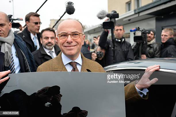 French Minister of Interior Bernard Cazeneuve attends the reopening of Kosher supermarket Hyper Cacher which was place of a terrorist attack earlier...