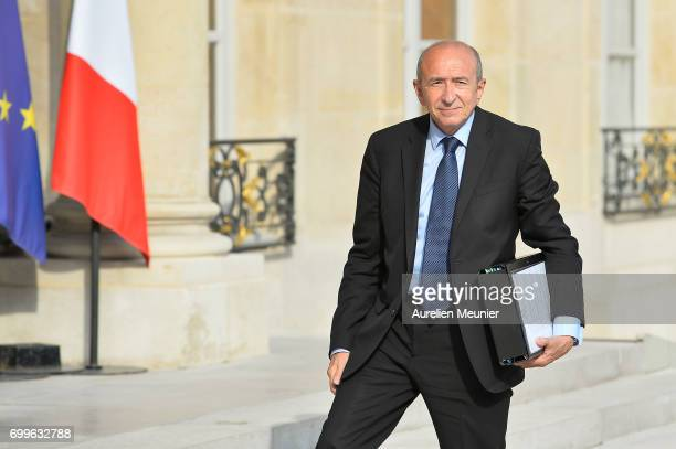French Minister of Interior Gerard Colomb arrives to the Elysee Palace for the weekly cabinet meeting with French President Emmanuel Macron on June...