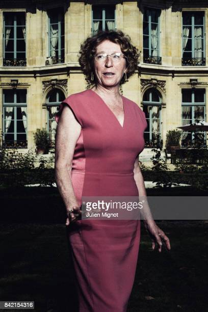 French Minister of Labour Muriel Penicaud is photographed for L'Obs on August 23 2017 in Paris France PUBLISHED IMAGE