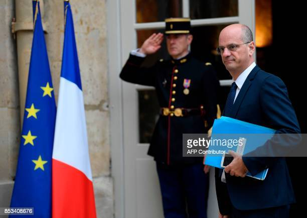 French Minister of National Education JeanMichel Blanquer arrives for a report on the Grand Investment Plan by French economist Jean PisaniFerry on...