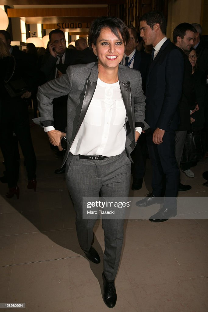 French Minister of National Education Najat Vallaud-Belkacem attends the 'Maison de la Radio' Re-Opening night on November 14, 2014 in Paris, France.