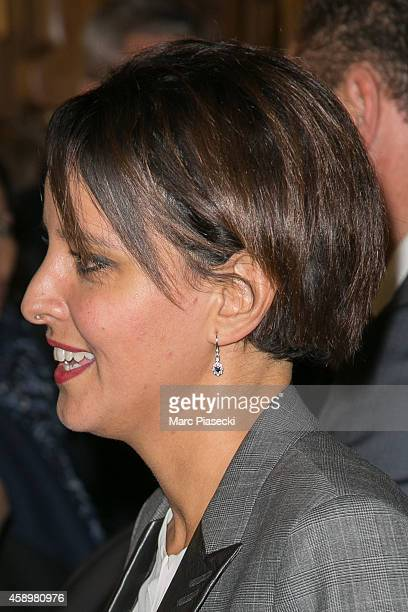 French Minister of National Education Najat VallaudBelkacem attends the 'Maison de la Radio' ReOpening night on November 14 2014 in Paris France
