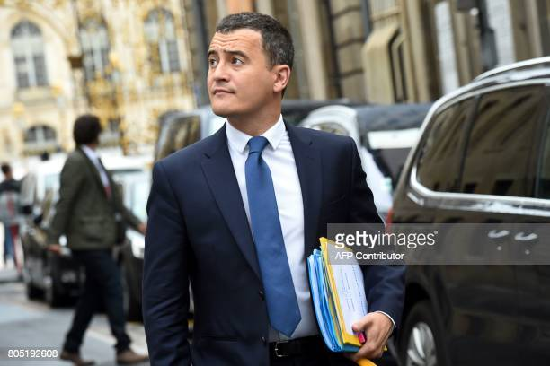 CORRECTION French Minister of Public Action and Accounts Gerald Darmanin arrives for the Government seminar in Nancy on July 1 2017 / AFP PHOTO /...