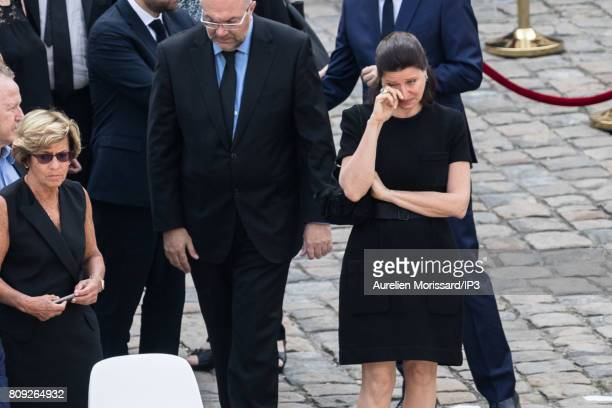 French Minister of Solidarity and Health Agnes Buzyn is crying during the Simone Veil Funeral and national tribute at Hotel des Invalides on July 5...