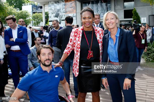 French Minister of Sports Laura Flessel and French Secretary of State for Handicapped Persons Sophie Cluzel attend the 'All in Wheelchair Day' as...