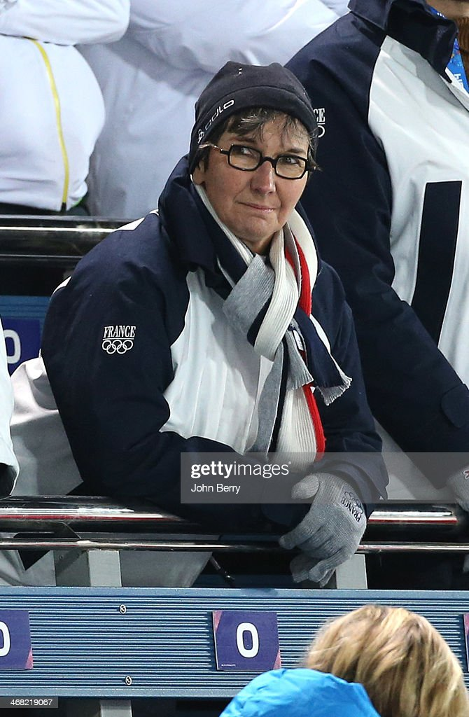 French Minister of Sports Valerie Fourneyron attends the Biathlon Women's 7.5 km Sprint during day two of the Sochi 2014 Winter Olympics at Laura Cross-country Ski & Biathlon Center on February 9, 2014 in Sochi, Russia.