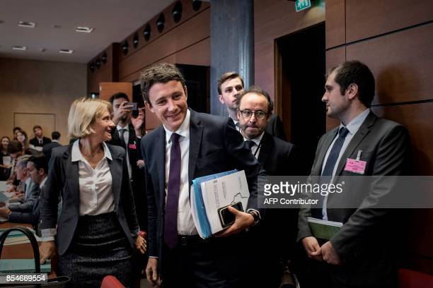 French Minister of State attached to the Minister of Economy and Finance Benjamin Griveaux arrives to attend a hearing by the committee on finance...