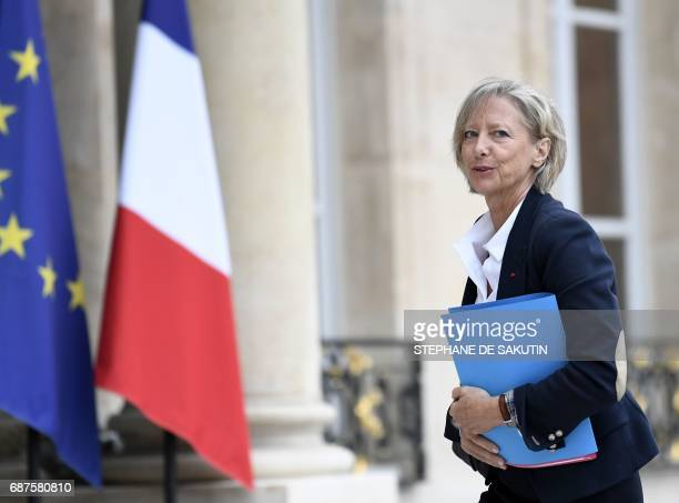 French Minister of State for Disabled People Sophie Cluzel arrives to attend the weekly cabinet meeting on May 24 2017 at the Elysee Palace in Paris...