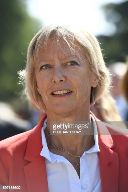 French Minister of State for Disabled People Sophie Cluzel attends the ceremony to mark the 77th anniversary of late French General Charles de...