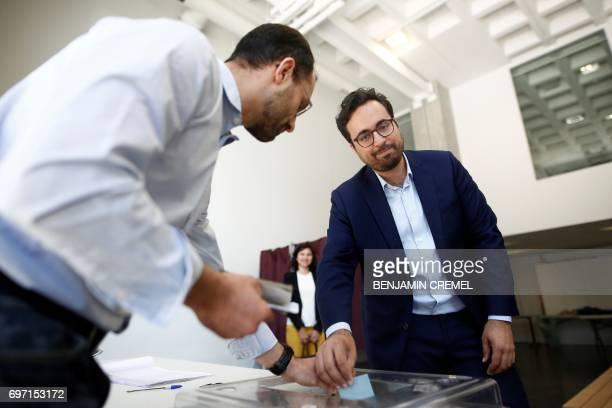 French Minister of State for the Digital Sector and candidate in the 16th constituency of Paris for the 'La Republique En Marche' party Mounir...