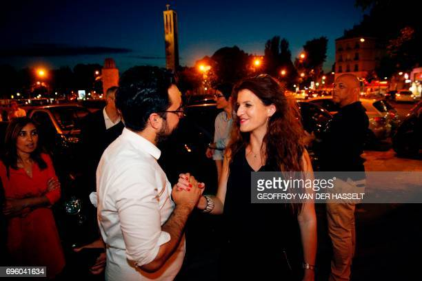 French Minister of State for the Digital Sector and 'La Republique En Marche' party candidate in the 16th constituency of Paris Mounir Mahjoubi...