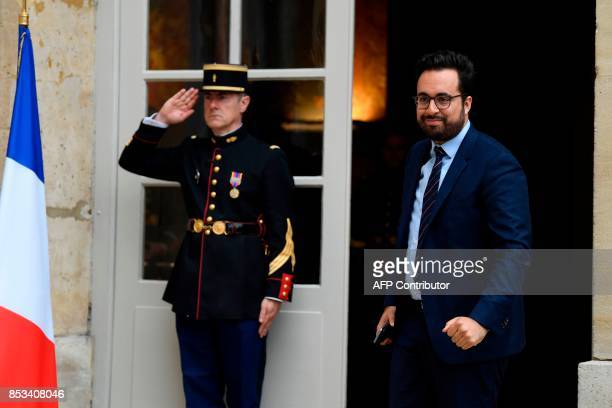 French Minister of State for the Digital Sector Mounir Mahjoubi arrives for a report on the Grand Investment Plan by French economist Jean...
