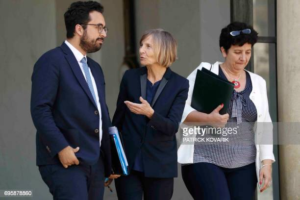 French Minister of State for the Digital Sector Mounir Mahjoubi French Minister of European Affairs Marielle de Sarnez and French Minister of Higher...