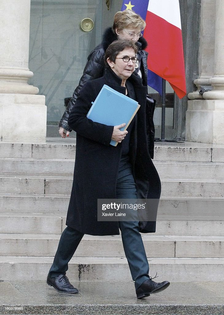 French Minister Valerie Founeyron departs the French Cabinet Meeting at Elysee Palace on January 30, 2013 in Paris, France.
