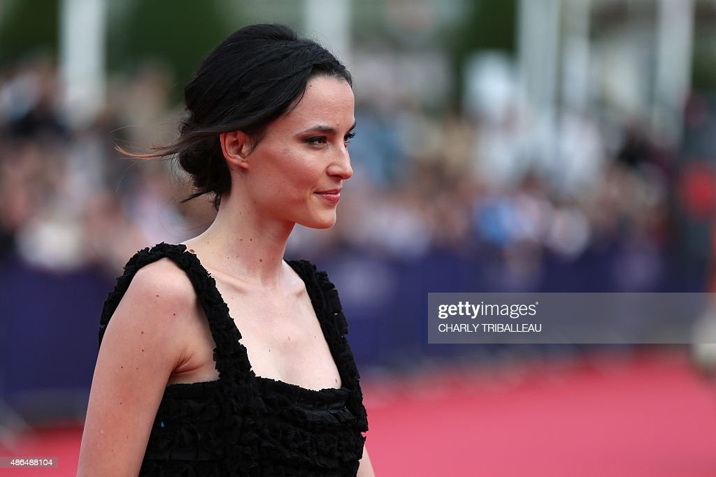 French model and actress Loan Chabanol poses on the red carpet before ...