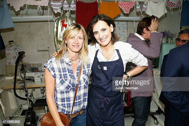 French model Ines de la Fressange attends her boutique opening with Sarah Lavoine on May 27 2015 in Paris France