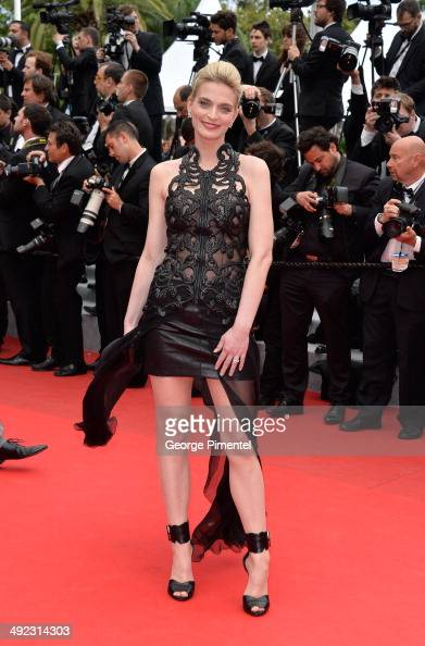 French model Sarah Marshall attends the 'Foxcatcher' Premiere at the 67th Annual Cannes Film Festival on May 19 2014 in Cannes France
