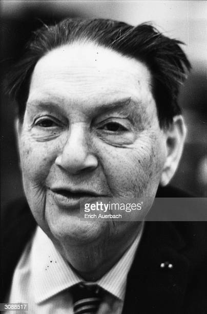 French modernist composer and teacher Darius Milhaud at the BBC's Maida Vale Studios London 19th September 1969 He is recording his own music and...