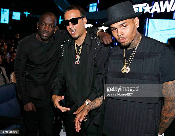 French Montana and Chris Brown attend the 2015 BET Awards at the Microsoft Theater on June 28 2015 in Los Angeles California