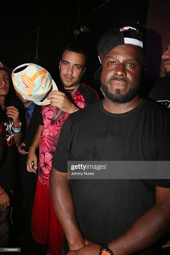 <a gi-track='captionPersonalityLinkClicked' href=/galleries/search?phrase=French+Montana&family=editorial&specificpeople=7131467 ng-click='$event.stopPropagation()'>French Montana</a> and DJ Funkmaster Flex attend Ace Hood Album Release Party at Webster Hall on July 18, 2013 in New York City.